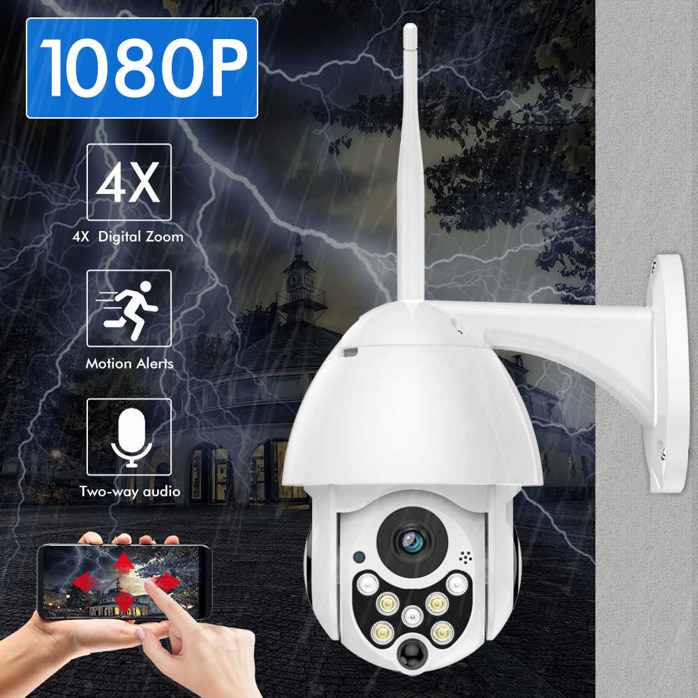 SDETER 1080P 2MP Draadloze IP Camera Wifi Speed Dome PTZ Outdoor IP66 Onvif Twee Weg Audio IR Nachtzicht CCTV Security Camera IP