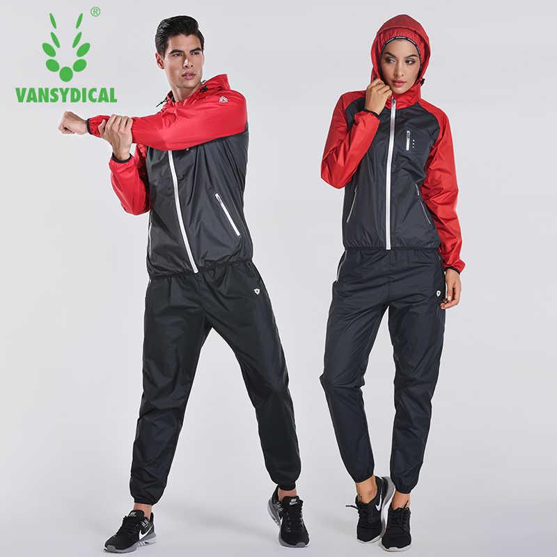 2018 VANSYDICAL спортивный костюм женские мужские спортивные костюмы для бега Фитнес Похудение 2 шт. Спортивная одежда для тренажерного зала Фитнес трек тренировочные костюмы