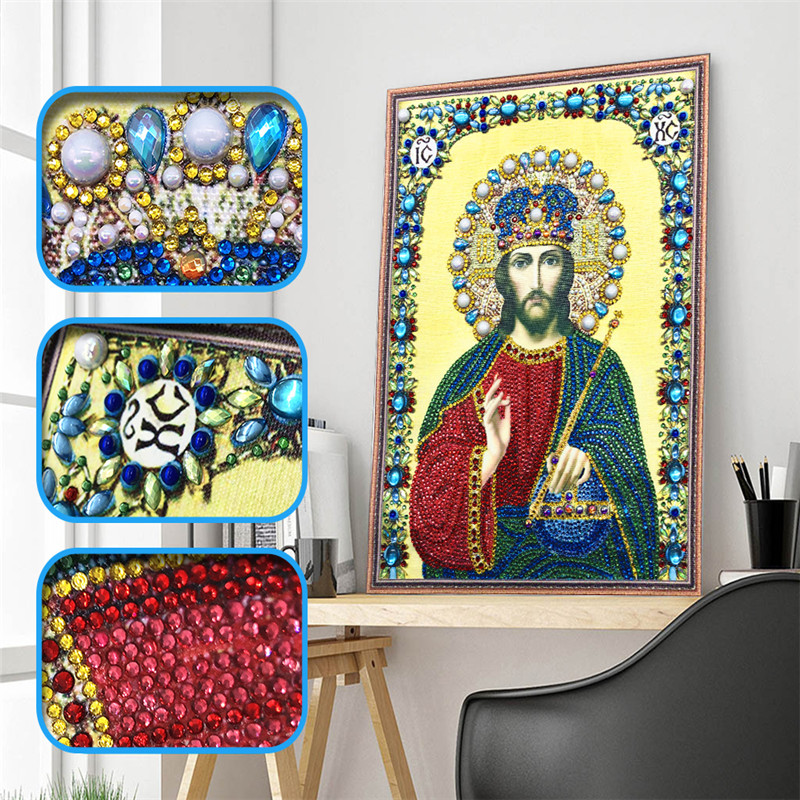 5D crystal round diamond painting diy diamond embroidery home decoration special shape diamond mosaic religious character icon5D crystal round diamond painting diy diamond embroidery home decoration special shape diamond mosaic religious character icon