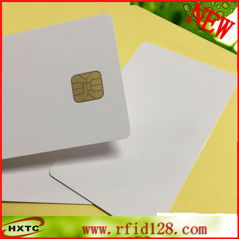100PCS/Lot ISO 7816 Contact AT24C64 Chip Smart IC Blank PVC Card with 64K Memory For Access control system 100pcs lot contact printable pvc biank smart ic card with fm4442 chip for epson canon inkjet printer suitable pos system