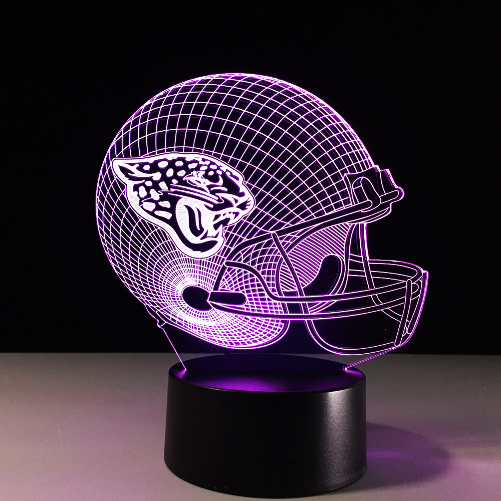 USB Rugby Cap Table Desk Lamp 3D LED Football Helmet Night Light 7 Color Changing Atmosphere Decor Light Fixture Xmas Kids Gifts