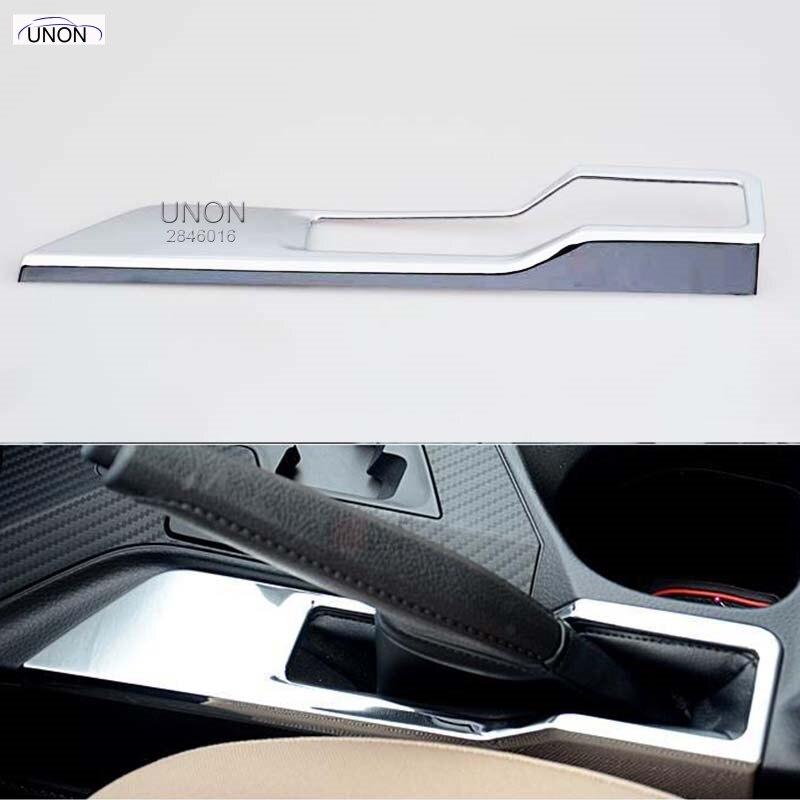 Intérieur! 1 pièces pour Toyota RAV4 2013 2014 Chrome garniture de cadre de frein à main