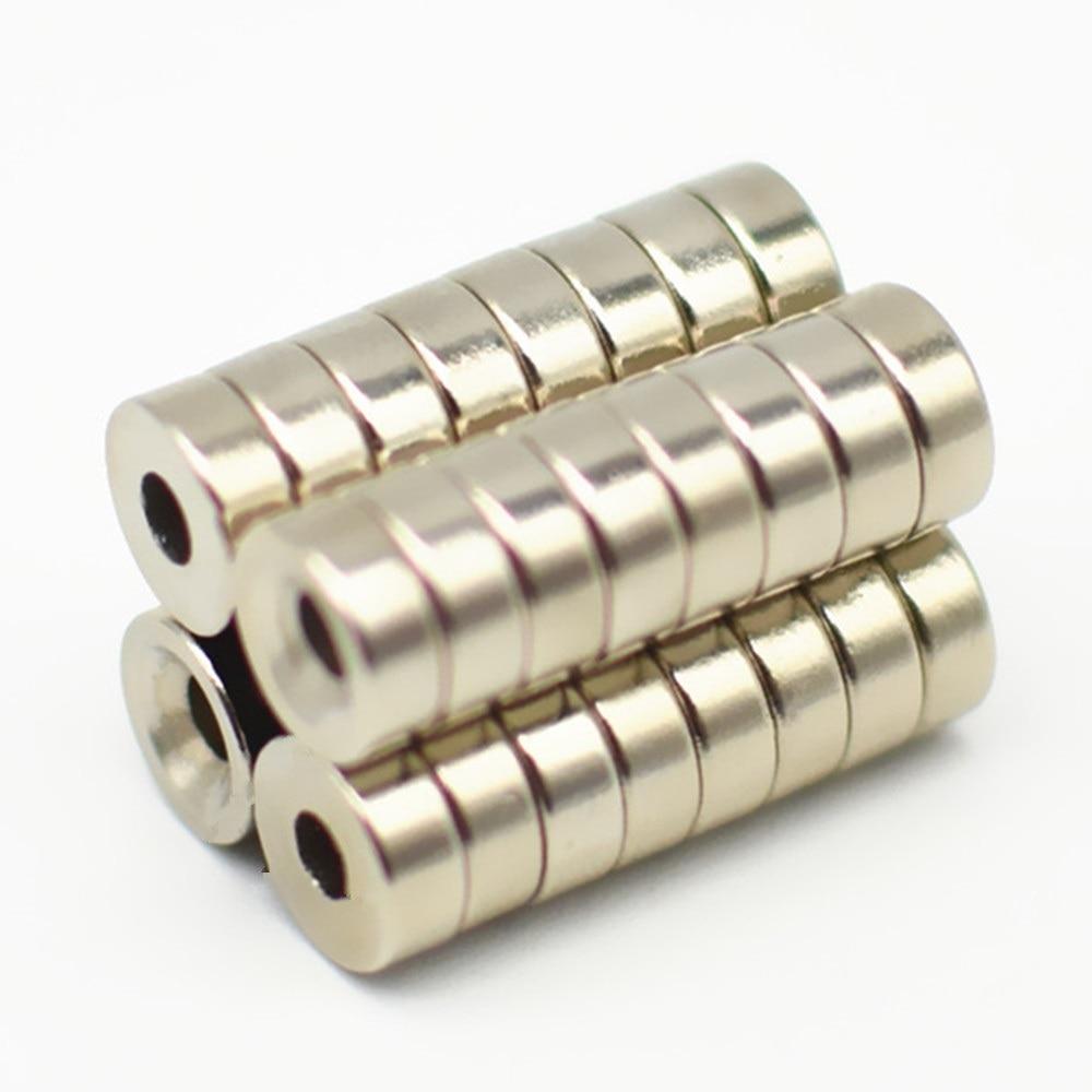 Gut 100 Pc Ndfeb Disc Magnet Dia. 8x3mm Starke M2 Schraube Senkkopf Loch Halten Und Hebe Neodym Rare Earth Permanent Magnet