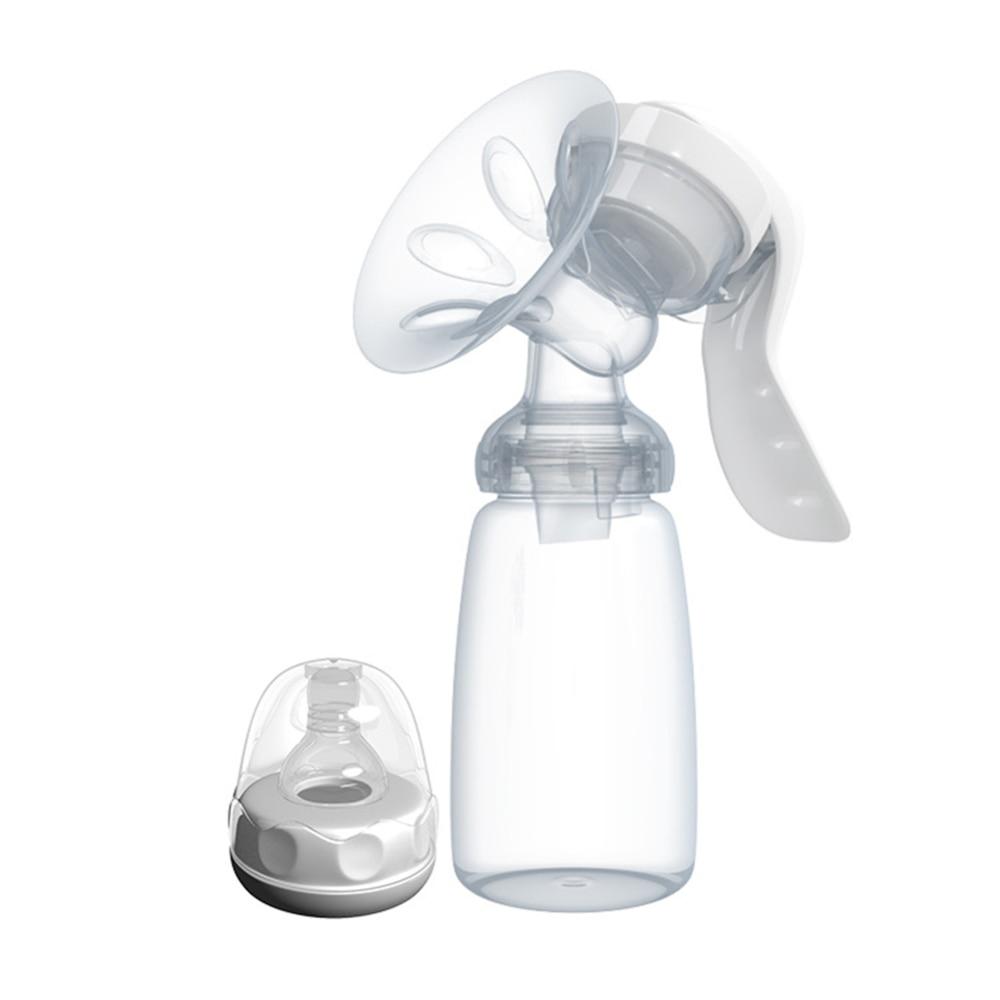 150ml PP Manual Breast Baby Pump Bottle Baby Mum Milk Warmer Manual Breast Pump Postpartum Supplies Hot Sale