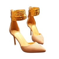 New 2016 High Heels Women Shallow Shoes Hollow Out All Match Wedding Bridal Sandals Casual Comfy