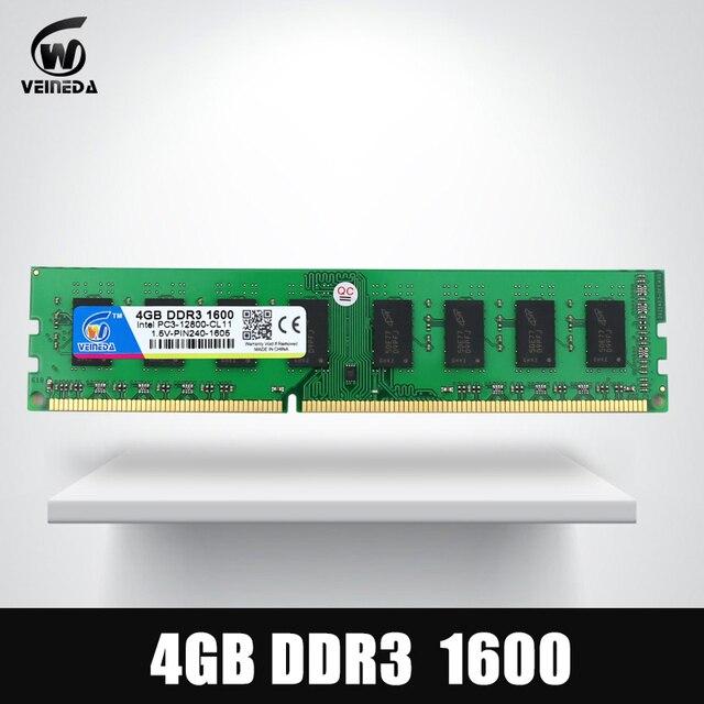 Dimm Ram DDR3 2 GB/4 GB/8 GB PC3-12800 1600 Ram de memoria para todos los Intel y AMD Desktop Compatible con Ram 1333