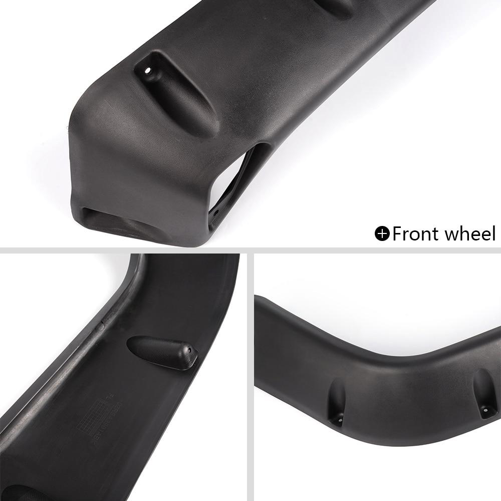 """6PC 97-06 Jeep Wrangler TJ 7/"""" Wide Black Pocket Extended Fender Flares Kit"""