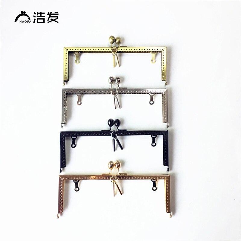 HAOFA 4PCS 20cm Metal Purse Frame  Kiss Clasp Clutch Bag Frame Bag Handle DIY Bag Accessories Factory Direct Sale