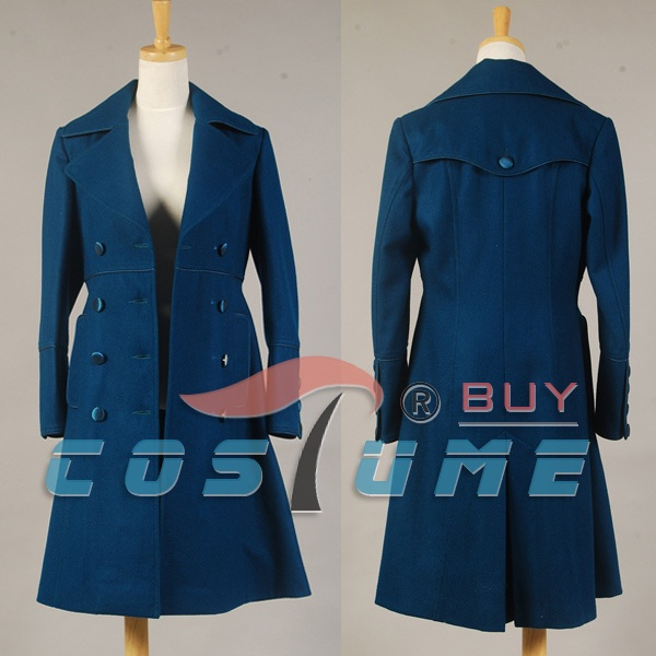 Who is Doctor Amy Teal Cosplay Costume For Women Wool Coat Trench Jacket Halloween Costume