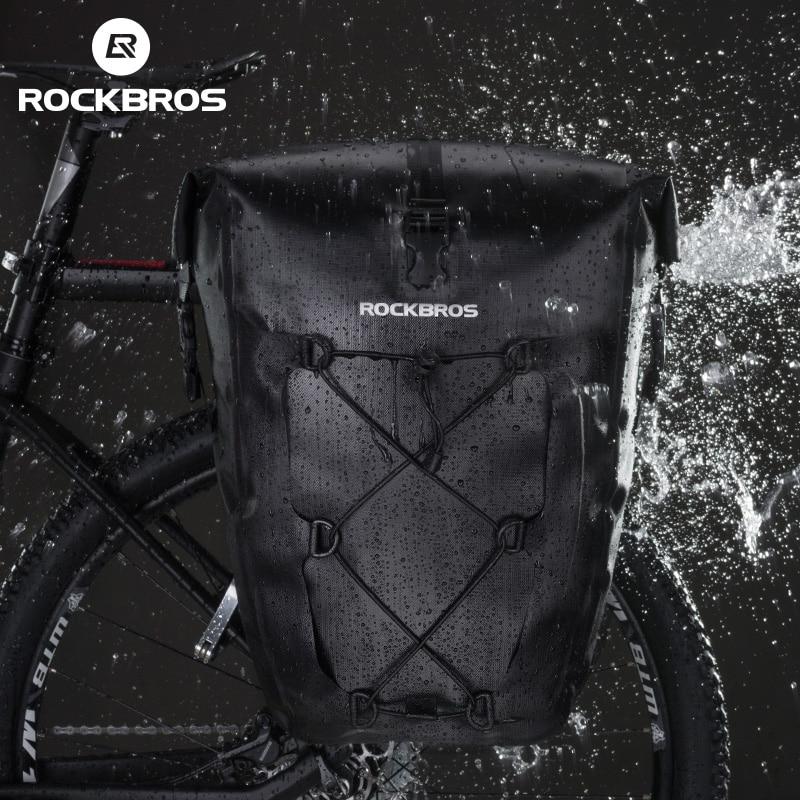 ROCKBROS 防水バイクバッグ 27L 旅行サイクリングバッグバスケット自転車リアラックテールシートトランクバッグパニエ Mtb 自転車アクセサリー  グループ上の スポーツ & エンターテイメント からの 自転車用バッグ & パニア の中 2