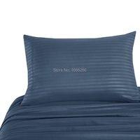סט מצעי מאמר 3-4 Piece soild צבע בולט רצועת סאטן כוללים סדין למיטה/גיליון/כרית מצויד מקרה