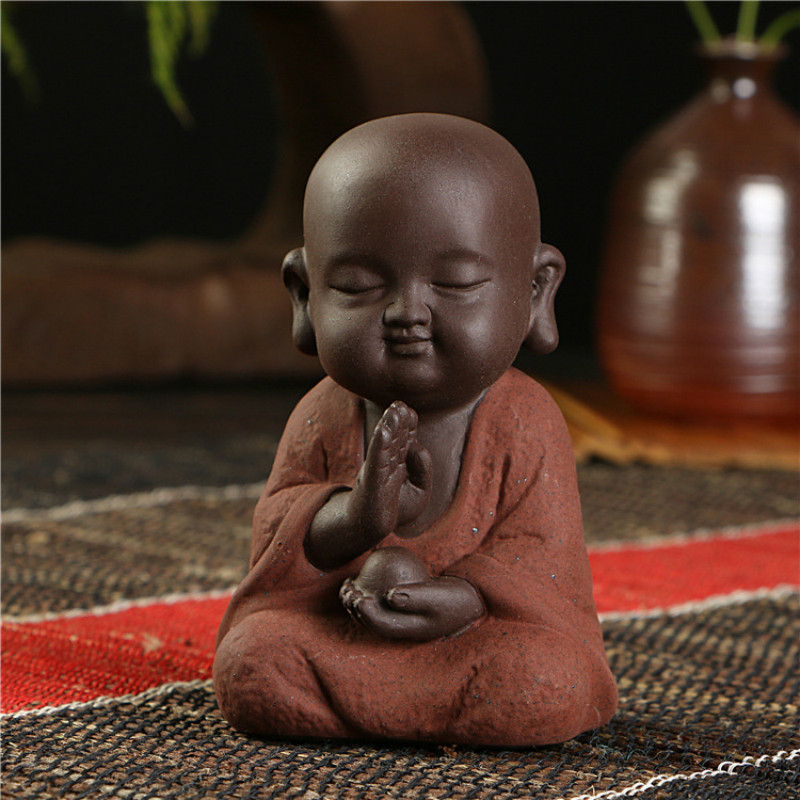 Little Buddhist Monk Ceramic Figurine 3