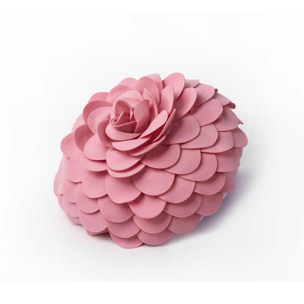 Enipate Европа Роскошные ручной работы элегантный цветок круглая подушка, Чехлы/подушки диван автомобиля украшения дома 43 см