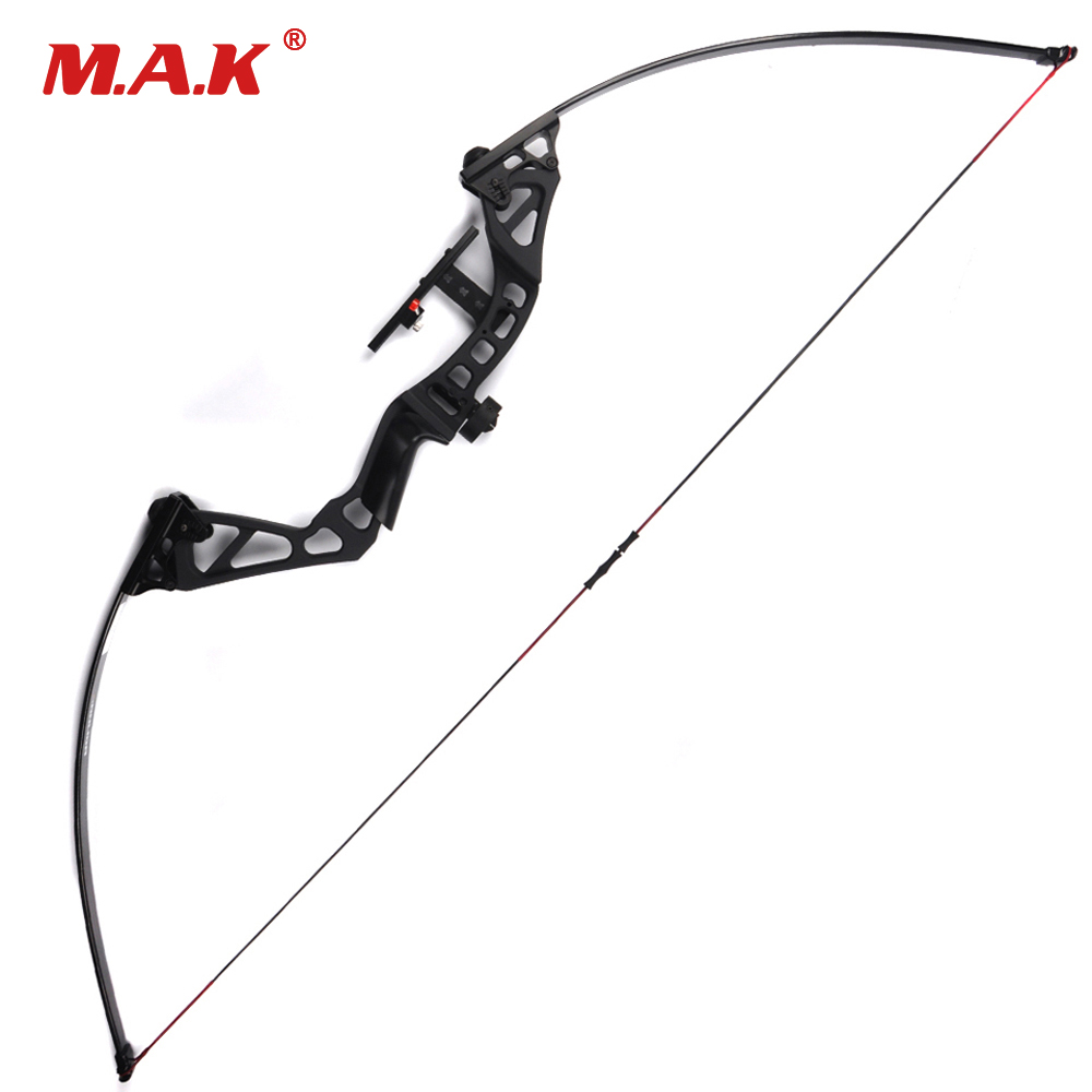 Straight Pull American Recurve Bow Length 60 Inches 30-50 Pounds Adjustable Hunting Bow
