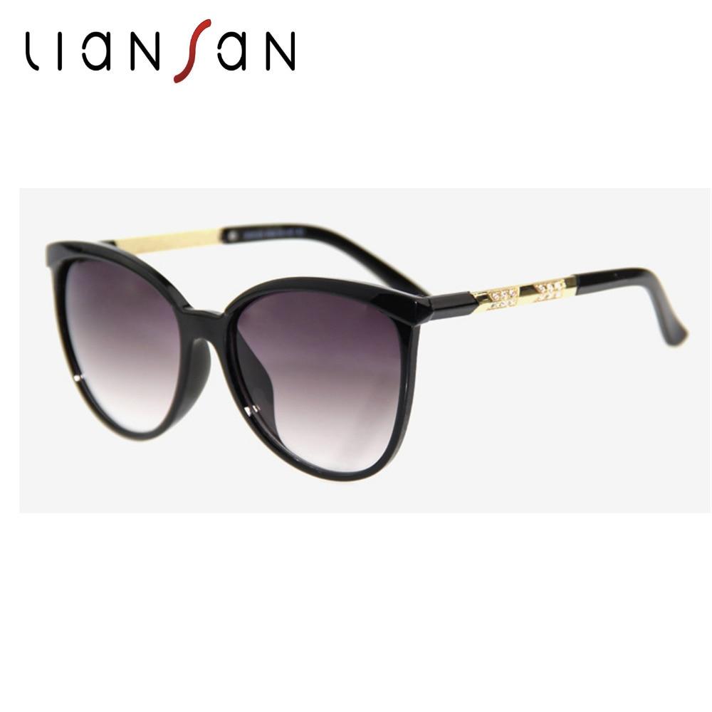 98d5dcfa41 Liansan vintage oversized ojo de gato Polarized Gafas de sol mujer de lujo  marca diseñador conducción Sol Gafas PC lente gafas lsz15125