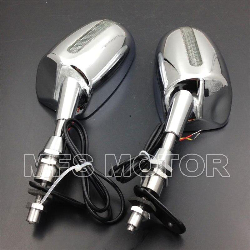 Часть мотоцикла для Honda светодиодный зеркало заднего вида CBR 600 F1 F2 F3 CBR 900 929 954 RR CHROME