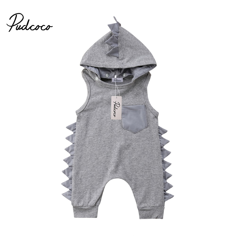 Pudcoco Dinosaur Clothes Kid Baby Girl Boy   Romper   Casual Hoodie Jumpsuit Playsuit Cotton Baby Outfit Summer Children Clothing