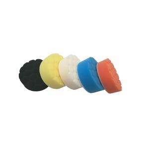 Image 3 - 5 pcs רכב ספוג ליטוש כרית שעווה עבור רכב לטש שעוות מרוט ליטוש ספוג יד כלי ערכת לשטוף אביזרי רכב