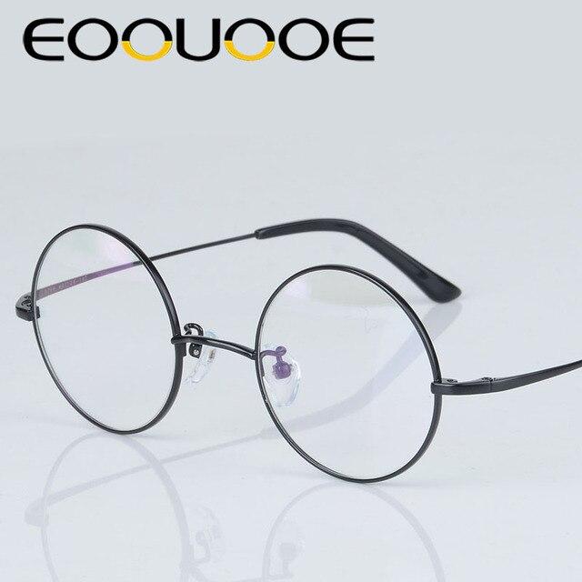 a383be368f3 EOOUOOE 100% Pure titanium Men Women Round Frame Optical Glasses Oculos  Monturas Hombre Eyewear Glasses Gafas Opticas Retro