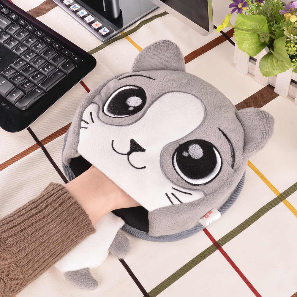 وسادة فأرة حرارية شتوية مزودة بمنفذ USB وسادة تدفئة للتدفئة غطاء من القطيفة حصيرة مصدر للحرارة لضابط المنزل