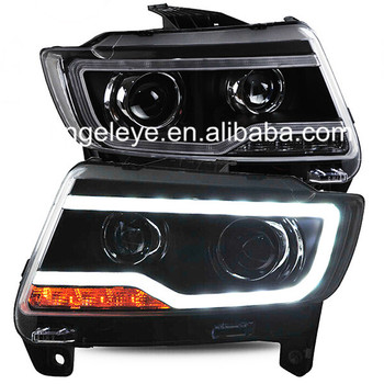 For Jeep Compass 2011-2015 year LED Head Light Black Color