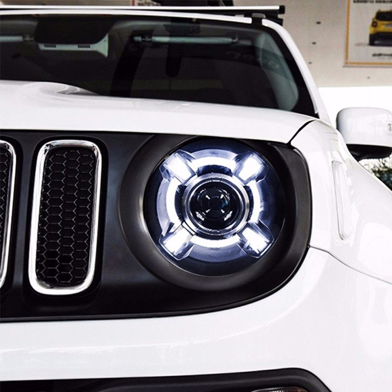 Pair For 2015-2017 Jeep Renegade HID Headlight with DRL and Bi-xenon Projector For Jeep Renegade BU HID H4 Head Lamp Headlights (6)