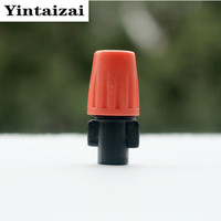 30pcs Lot Mist Nozzle Misting Sprinkler With 1 4 Barbed Tee Connector For Micro Irrigation OHA1030