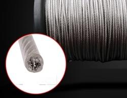 0,8-2 MM 50--200M, 7X7 304 edelstahl draht seil mit PVC beschichtung weicher angeln beschichtet kabel wäscheleine traktion seil