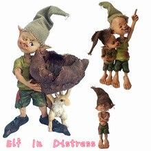 Cute Fairy Statue Elves Figurine Collection Resin Craft Home Decoration Garden Ornament Accessories Desk Decor Gift