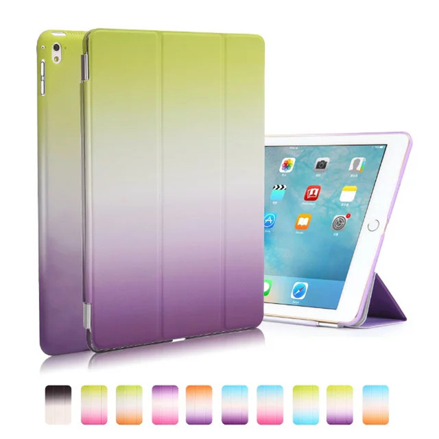 JIaLonG High-End Wallet Leather for Ipad 2 3  Gardient Color PU Leather For Ipad  4 With Stand Tablets Case Cover Funda