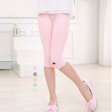 SheeCute Girls pants summer candy color girls knee length leggings kids beautiful pants chindren 3-9y trousers SCH320
