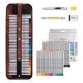 Marco rafline cor lápis desenho arte suprimentos com rolo para cima lavável lona lápis saco 48/72 lápis coloridos conjunto