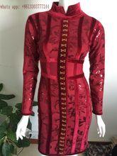 Babatique 2017 sexy women dresses vestidos wine red bandage dresses bodycon luxcury short bodycon dress cocktail party dresses