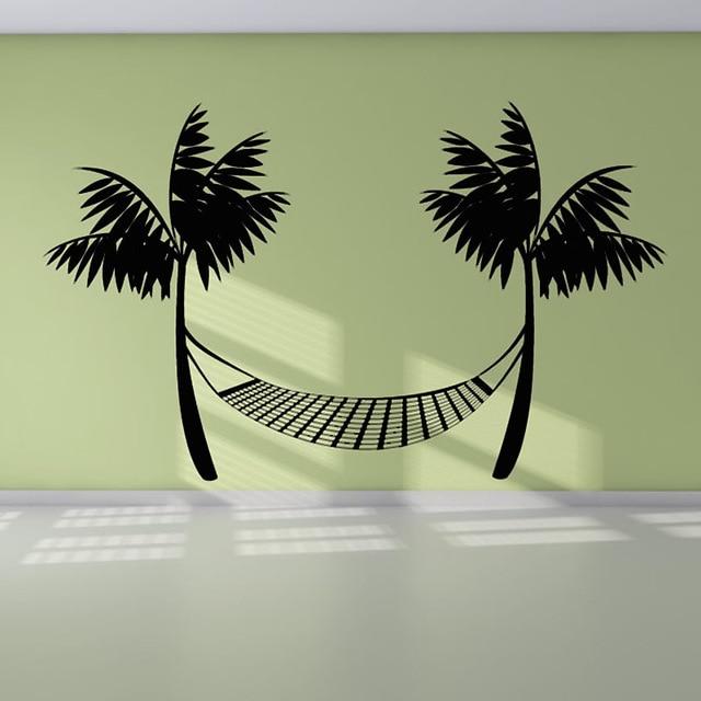 Durable Noir Imprimé Plage Hamac Créative Sticker Mural De Mur De