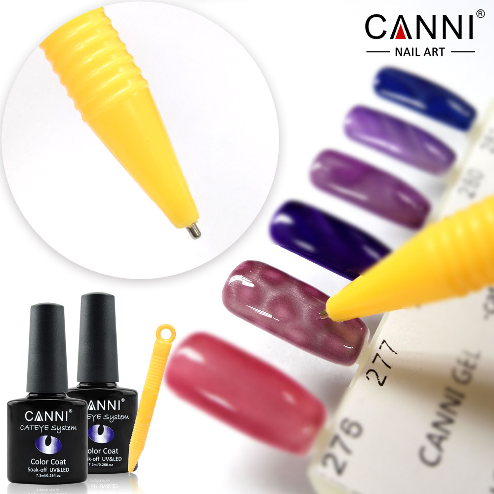 Canni 12pcs Cat Eyes Gel Polish Hot Nail Art Salon Manicure Mag Tool 12 Colors Optional Soak Off Eye Lacquer Varnish In Hair Clips Pins From
