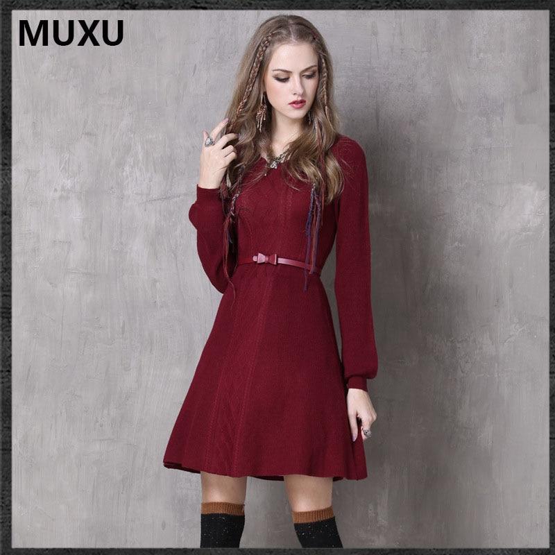 Hiver Mujer Feminina Vêtements Ropa Automne Vestiti Robe Roupas Robes Donna  Femmes Rouge Moulante Muxu p5wX4qxO c883932c897