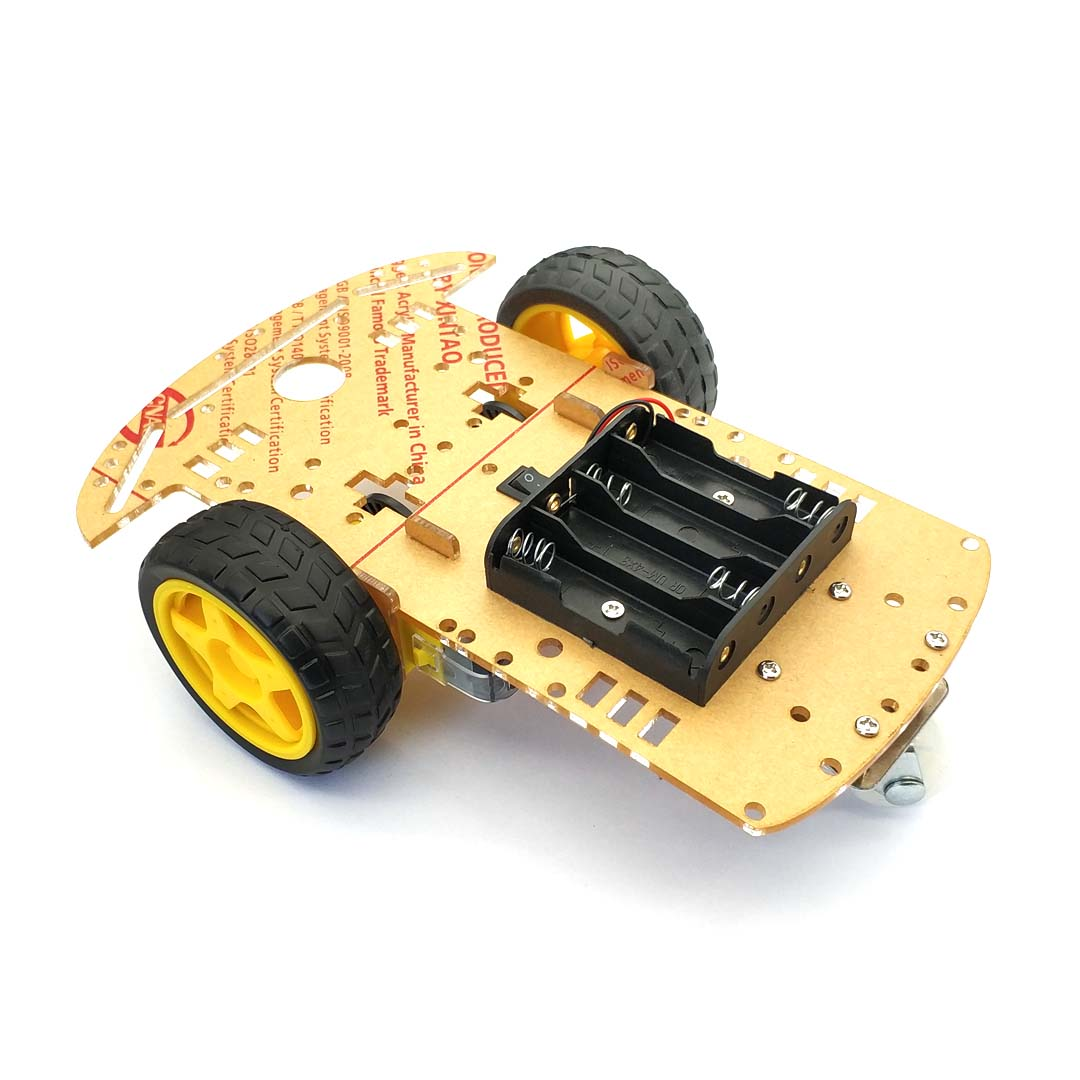 New Motor Smart Robot Car Chassis Kit Speed Encoder Battery Box 2WD For Uno