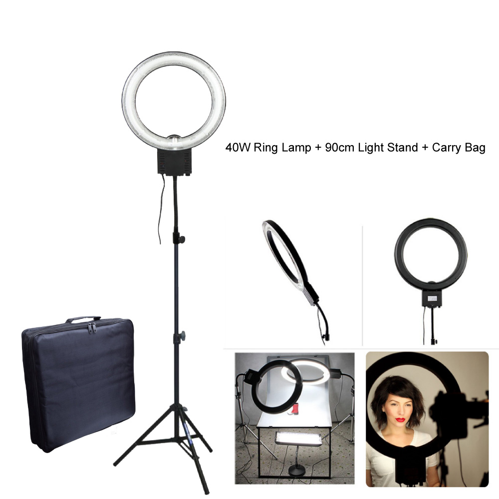 Studio 40W 5400K Fluorescent Diva Ring Light with 90cm Tripod Stand + Carry Bag Kit for Photography Makeup Video Photo Selfie
