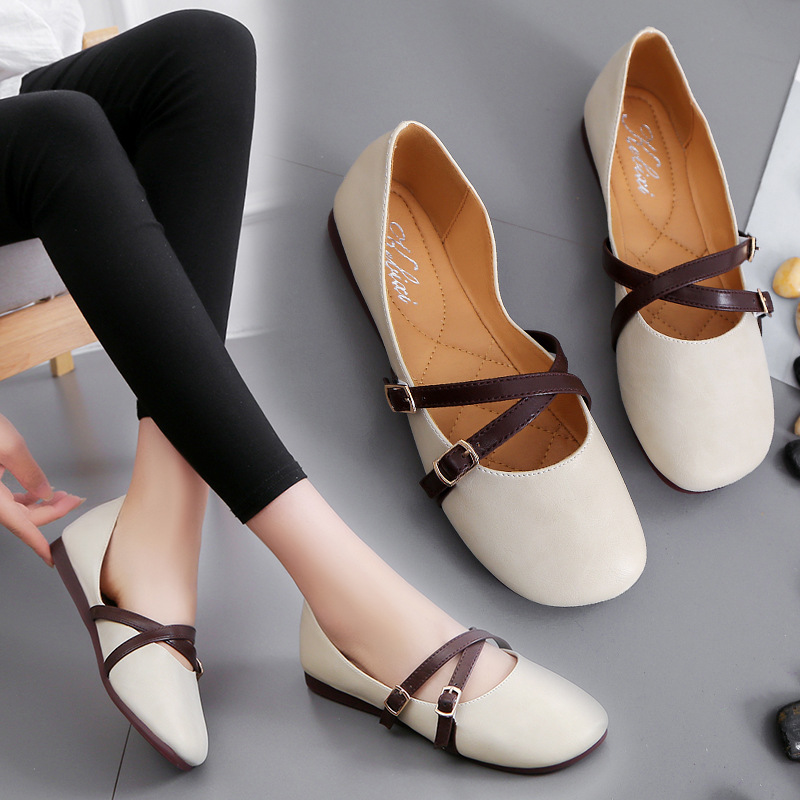 YIDAKU Hot Fashion Brand Women Shoes Leather Flats Soft Office Work Shoes for Women
