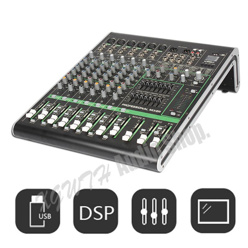 Angemessen 8 Kanal Digital Mixer 16 Dsp Digitale Wirkung Mischen Konsole + 48 V Phantom Power Für Karaoke Audio Dj Mixer