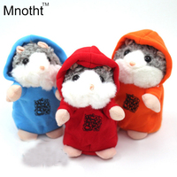 Newest Talking Hamster Mouse Electronic Pet Plush Toy Red Blue Orange Cute Speak Talking Sound Record