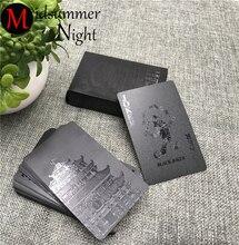 54 шт. водостойкие черные пластиковые игральные карты коллекция черный бриллиант покер карты креативный подарок стандартные игральные карты