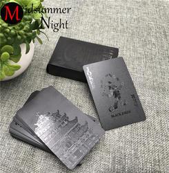 54 шт.. водостойкие черные пластиковые игральные коллекция карт черные алмазные покер карты креативный подарок стандартные игральные карты