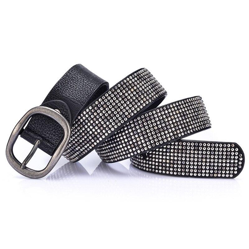 Rivet Cowskin Casual Buckle Pin Buckle Belt