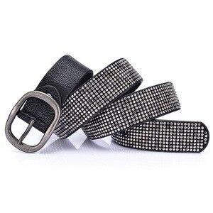 Image 3 - New arrival rivet belts high quality designer women belts brand waist belt for women casual pin buckle female belts Strap