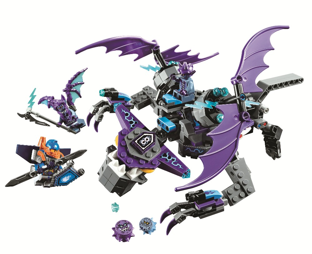 BELA Nexo Knights Building Blocks Sets the Heligoyle Kits Bricks Classic Model Kids Toys Marvel Compatible Legoe Nexus lepin city jungle cargo helicopter building blocks sets bricks classic model kids toys marvel compatible legoe