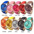 1pc New Fashion women ladies Colorful Roman Watches Faux Leather Analog Quartz Wrist Numerals Wristwatches Casual gift H3