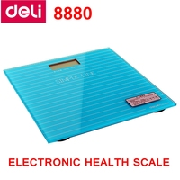 Deli 8880 Electrónica escala de salud escala de peso KG/LB/ST 3 unidades 5-180 kg pantalla LCD encendido automático de encendido Azul Verde