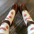 Princess sweet lolita  socks Japanese lovely strawberry cotton lace combed cotton socks DW11