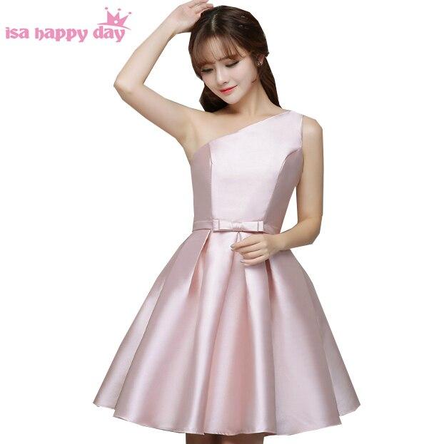 Schöne blass rosa modest junior mädchen brautjungfer kleider kurze ...